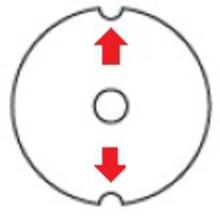 ŠAJBA 2 MM - 2 VÝŘEZY